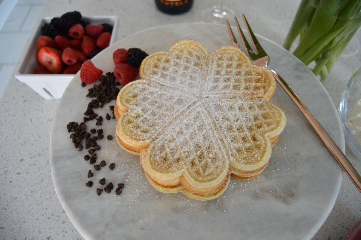 Hearts of waffles
