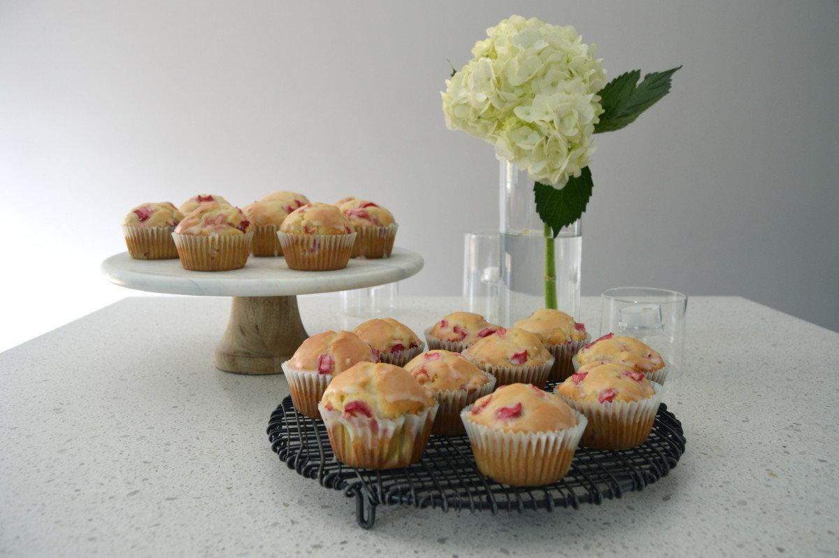 Easter Brunch Inspo: Rhubarb Muffins