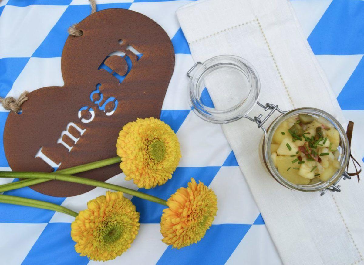 german bavarian potato salad bayrischer kartoffelsalat oktoberfest recipes dirndl kitchen german. Black Bedroom Furniture Sets. Home Design Ideas