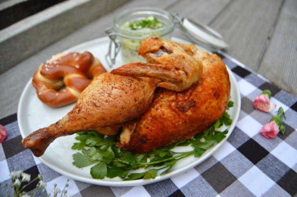 dirndl kitchen German food blog Wiesnhendl Oktoberfest recipe