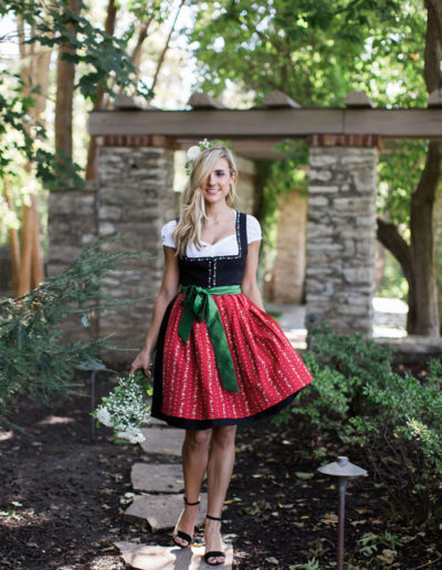 Sophie from dirndl kitchen walking and smiling