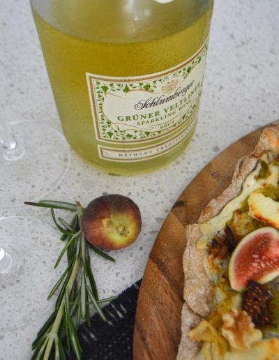 Schlumberger Grüner Veltinger Wine Pairing for Fall Flammkuchen