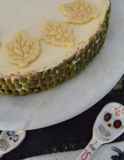 German pumpkin cheesecake recipe baked and decorated