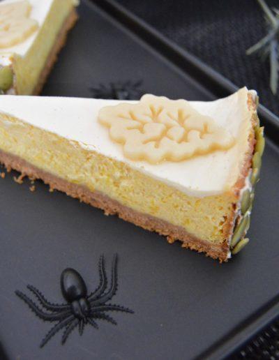German pumpkin cheesecake recipe by the slice