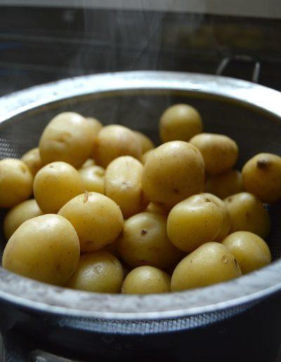 Boiled potatoes Königsberger Klopse German Meatball Recipe