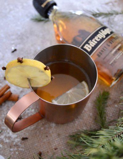 Hot Toddy using Bärenjäger Honey & Bourbon
