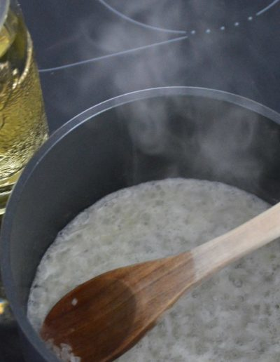 Affentaler Riesling boiling for Riesling Soup