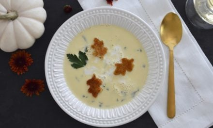 Riesling Soup with Cinnamon-Dusted Croutons