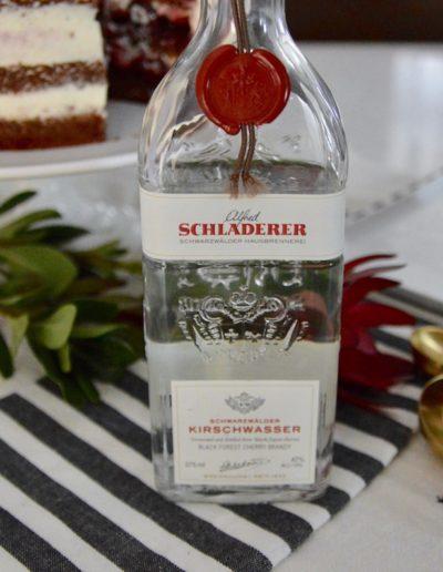 Bottle of Schladerer Kirschwasser for Schwarzwälder Kirschtorte