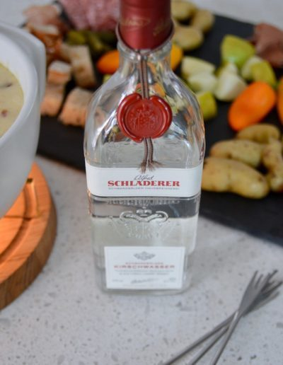 Schladerer Kirschwasser for Rustic Beer Cheese Fondue