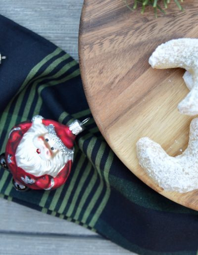 Cookies and Milk on a Plate for Santa