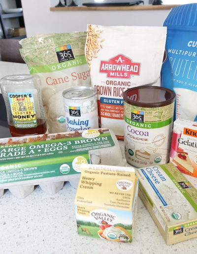 Ingredients for gluten-free Milchschnitte