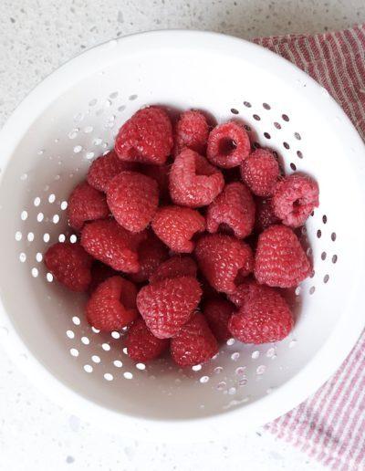Raspberries Ready To Become Tiramisu
