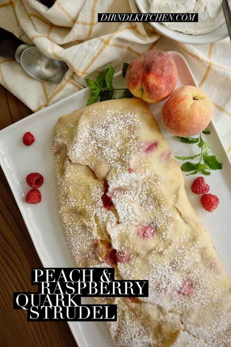 dirndl kitchen peach and raspberry quark strudel12